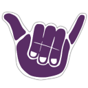 The Kokua logo, a stylized purple hand performing the shaka gesture